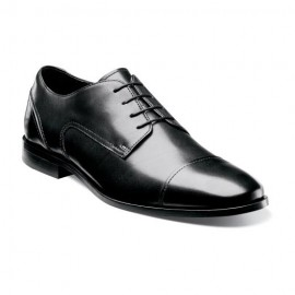 FLORSHEIM BLACK CAP TOE OXFORD